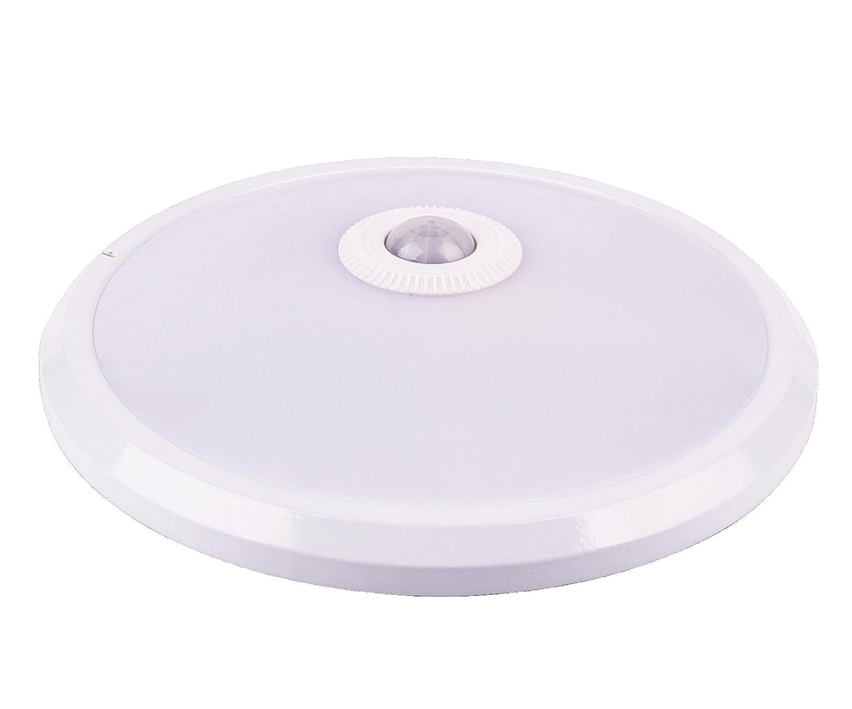 Plafoniera Con Sensore Di Presenza : Tevea lampada da soffitto con sensore di movimento pir 12w blanc
