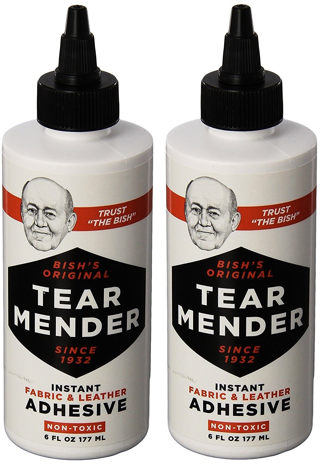 Tear Mender TG-6 Bishs SyGzQO Original Tear Mender Instant Fabric and Leather Adhesive, 6 oz (Pack of 2) by Tear Mender
