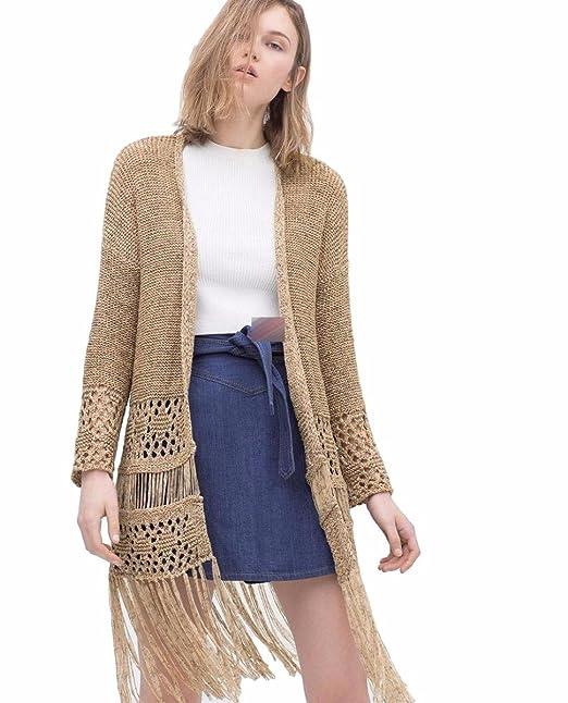Amazon.com: Moonshine Vestido Crochet Knit chaqueta de punto ...