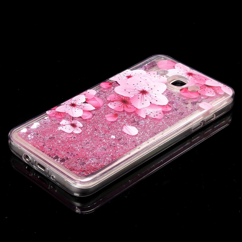 YSIMEE Compatible con Fundas Samsung Galaxy J7 2016 C/árcasa Pintado Lujosa,Brilla Glitter Brillante Arenas Movedizas L/íquidas TPU Cristal Silicona Bumper Anti-Choque Sparkle Cute M/óvil Case,Flamenco