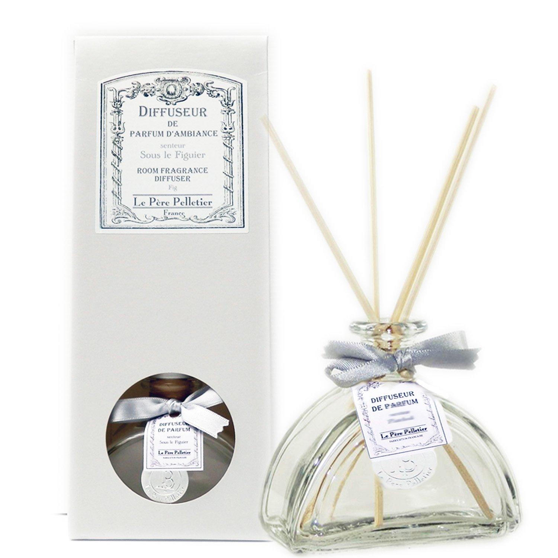 Le Père Pelletier LPP : Coffret Diffuseur de Parfum d'Ambiance Encrier Tiges en Rotin (Figue sous Le Figuier)