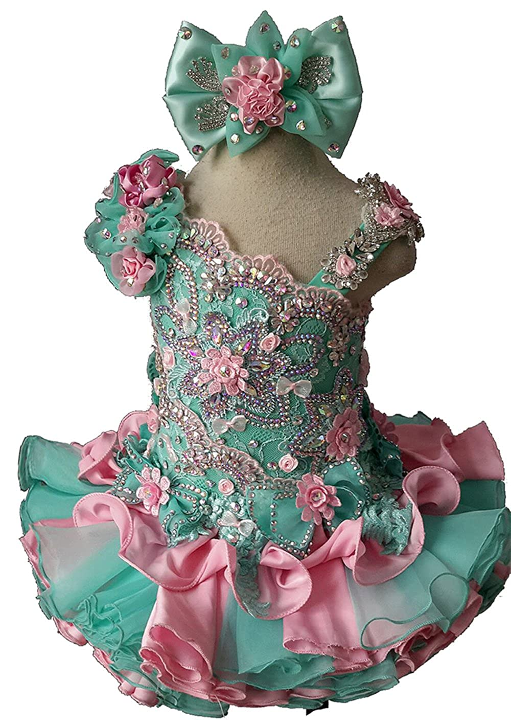 Jenniferwu Infant Toddler Baby Newborn Little Girls Pageant Party Birthday Dress 3months to size7 G003