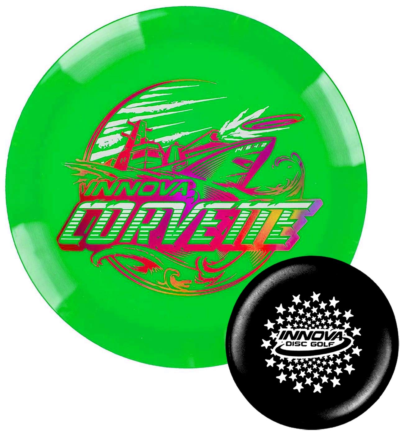 Innova Discs Golf XXL Star Corvette Disc Golf Driver Special Edition with Limited Edition Stars Stamped Innova Mini - Colors Will Vary (170-172g) by Innova Discs