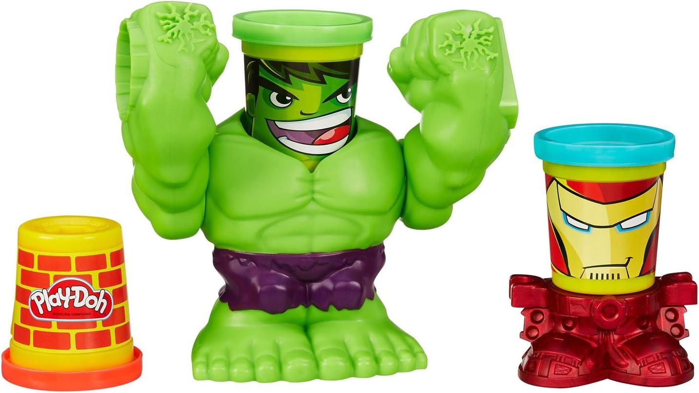 Hulk Poings Destructeurs Marvel B0308eu40 Play-Doh P/âte /À Modeler
