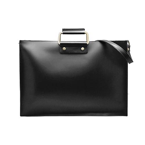 #MYITALIANBAG GERRY Bolsa italiana maletín de la computadora documentos carteras de mano con asas y correa para el hombro mensajero para portátiles y ...