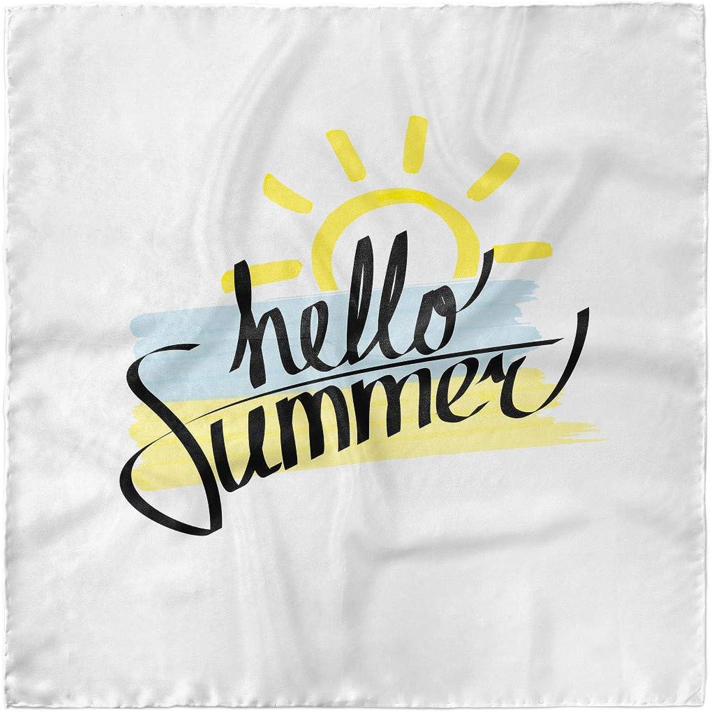 Brush Strokes Art Ambesonne Hello Summer Headscarf Hijab Scarf