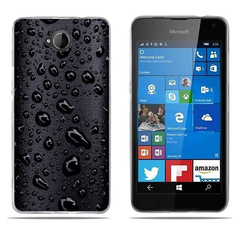 Fubaoda Nokia Lumia 650 H/ülle, Anti-Dropping PC Handy-Tasche Back-Cover Ultra Slim Weich Silikon Transparent Designs Schutzh/ülle f/ür Nokia Lumia 650 W/ölfe