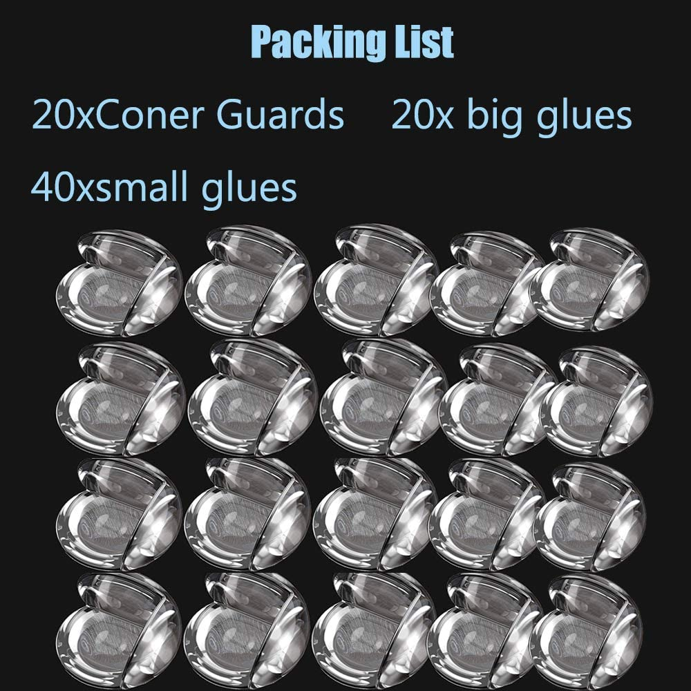 Child Safety Sharp Corner Protectors Baby Safety Adhesive Edge Bumpers Besthome Glass Furniture Child Proof Guards 20 Pack Corner Guards Clear Corner Guards Table Corner Protectors for Baby Proofing