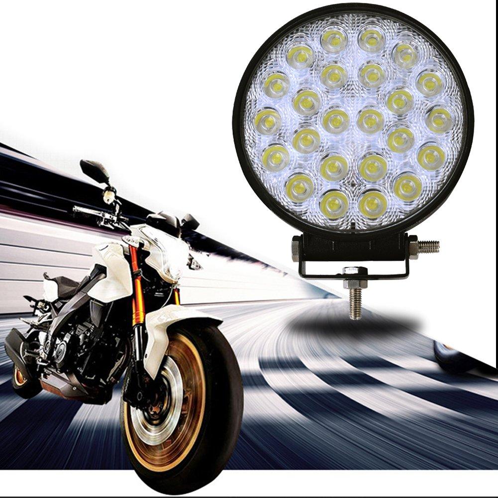 10x 72W redondo 7200LM La luz del trabajo de LED Bar inundacion del ...