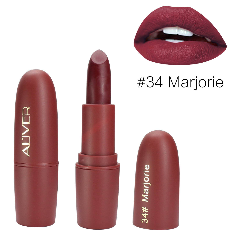 Matte Lipstick, ALIVER 6 Colors Lipstick Set, Long Lasting Lipstick, Nude and Natural Dark Matte Lipstick Non-Stick Cup for Lips Makeup by ALIVER (Image #3)