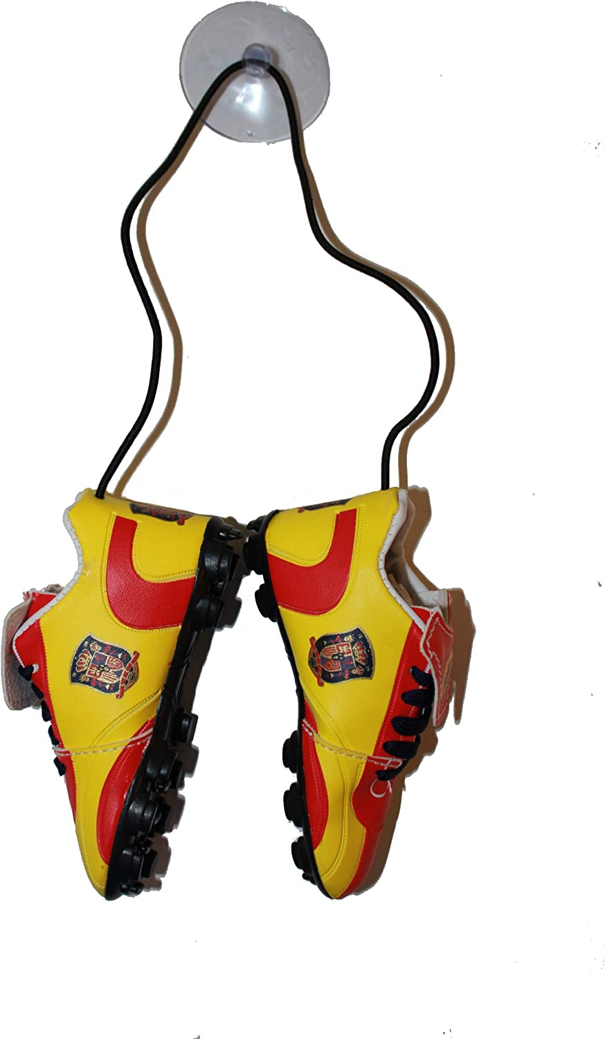 Spain Espana FIFA Soccer World Cup Hanging Shoes Cleat With Suction Cup . High Quality . New 12 x 5 Cm .