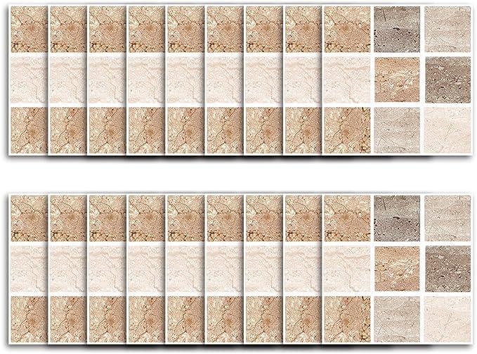 Imperméable 9PCS long mur de brique tile Stickers PVC Salle de Bain Cuisine auto-adhésif