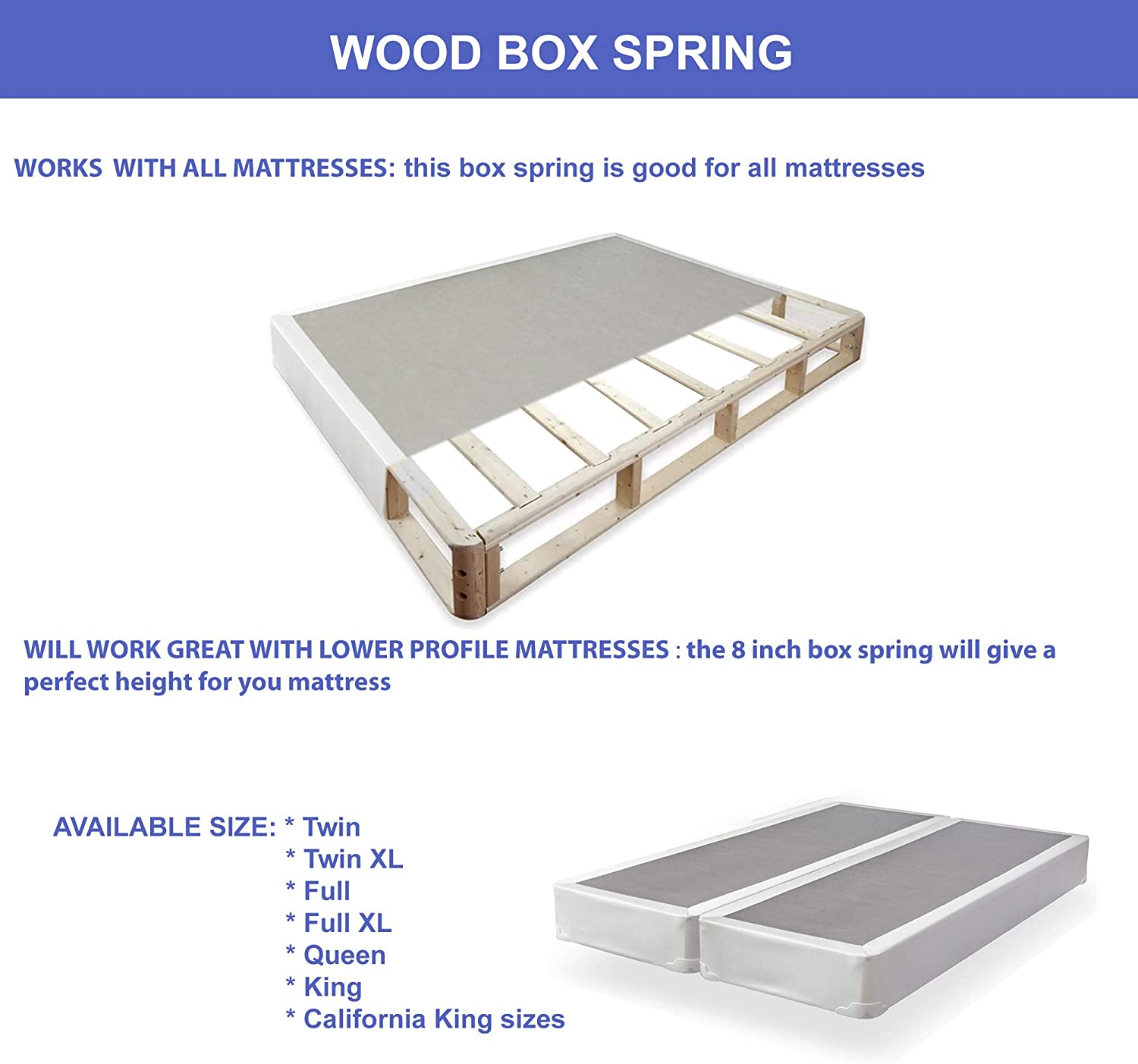Amazon.com: Mattress Solution, 4 inch/Low Profile Split Box Spring