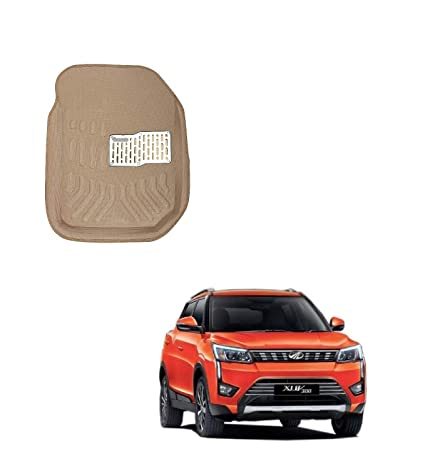 Carazy - 3D/4D Car Floor Mats for Mahindra XUV 300 Model (Biege