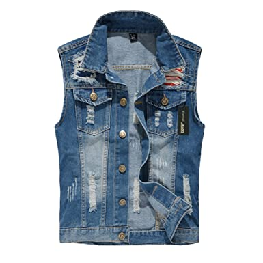 8efadc4b498cca Eternal Women Winter Spring Cotton Sleeveless Jeans Denim Vest Jacket  Outerwear Clothes (3XL