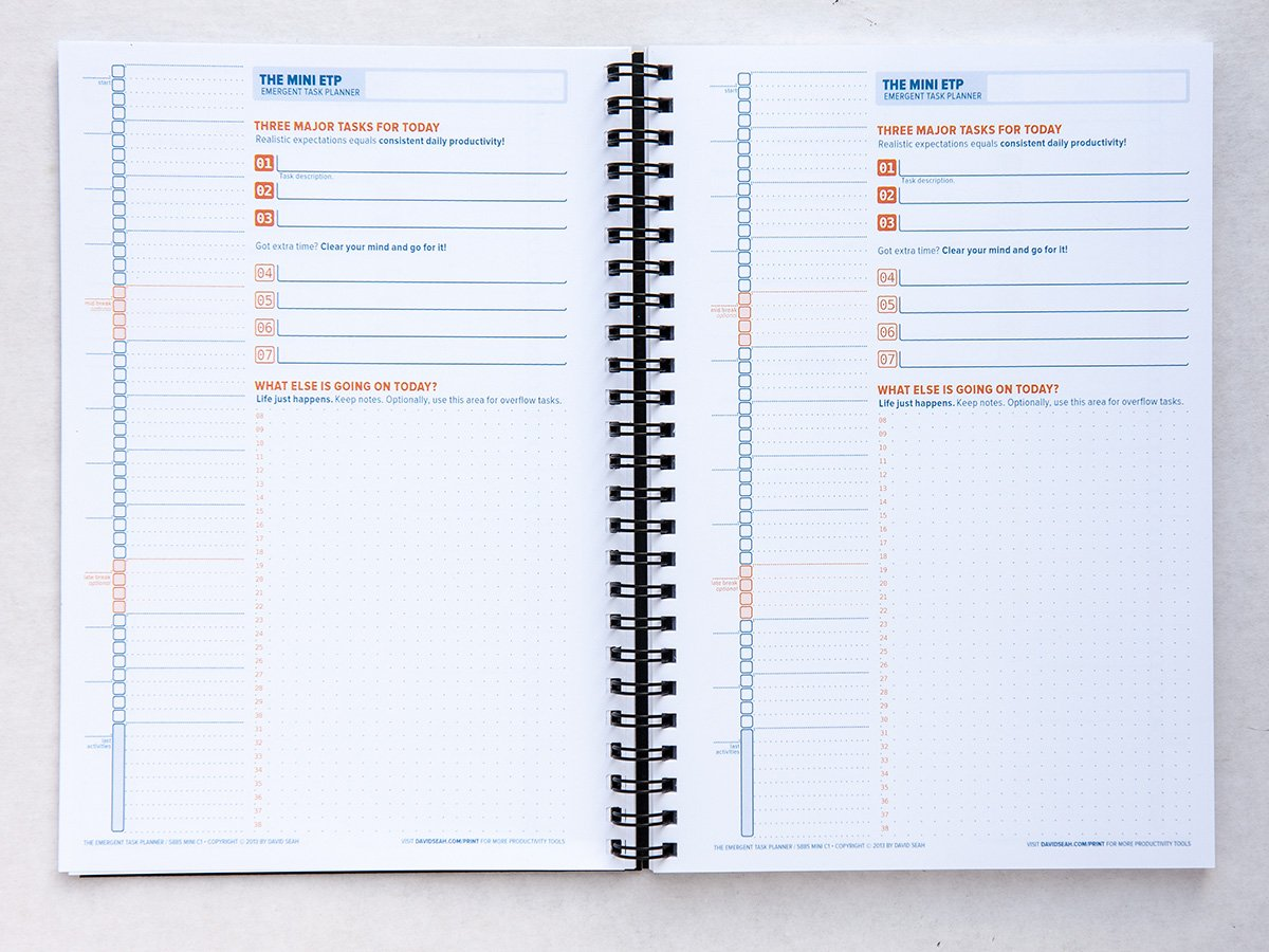 how to make a planner out of a notebook