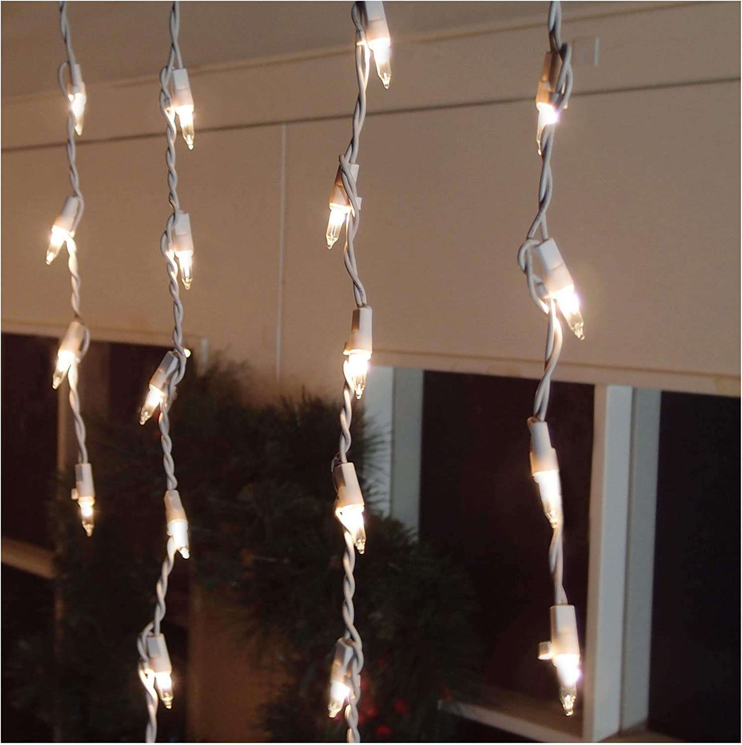 Brite Star 300ct Icicle Light, Clear Color, 300 Count
