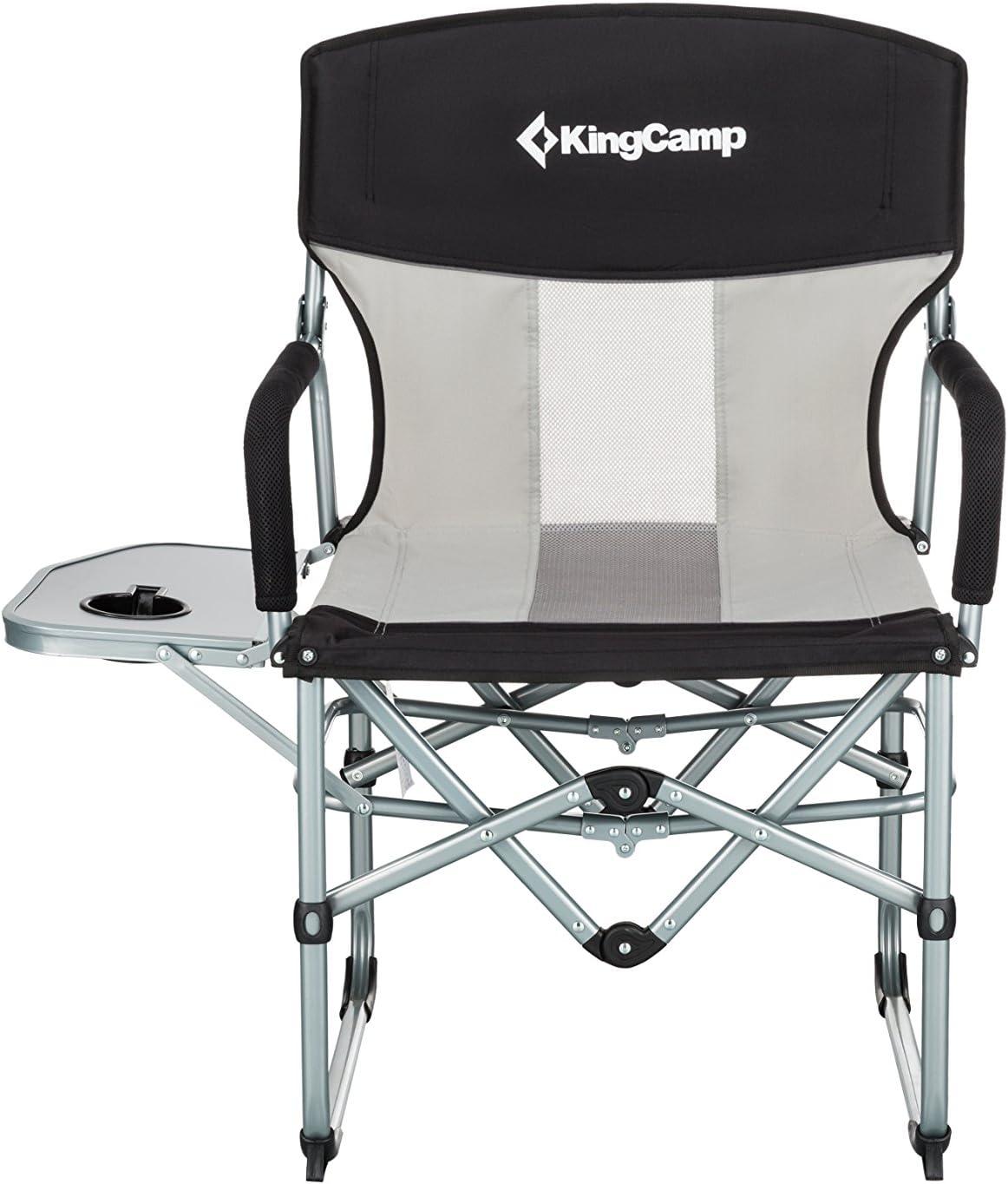 de et Dossier Table latérale Respirant KingCamp Camping en Fauteuil Maille avec OiTZuPkX