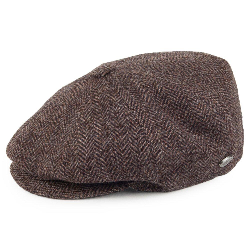 3c45e16e0ab5e Bailey Hats Galvin Herringbone Wool Newsboy Cap - Brown LARGE   Amazon.co.uk  Clothing