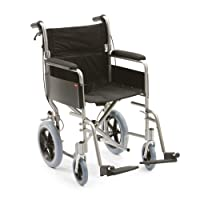 """Drive DeVilbiss Healthcare Enigma Aluminim Transit Folding Wheelchair with 18"""" Seat Width"""