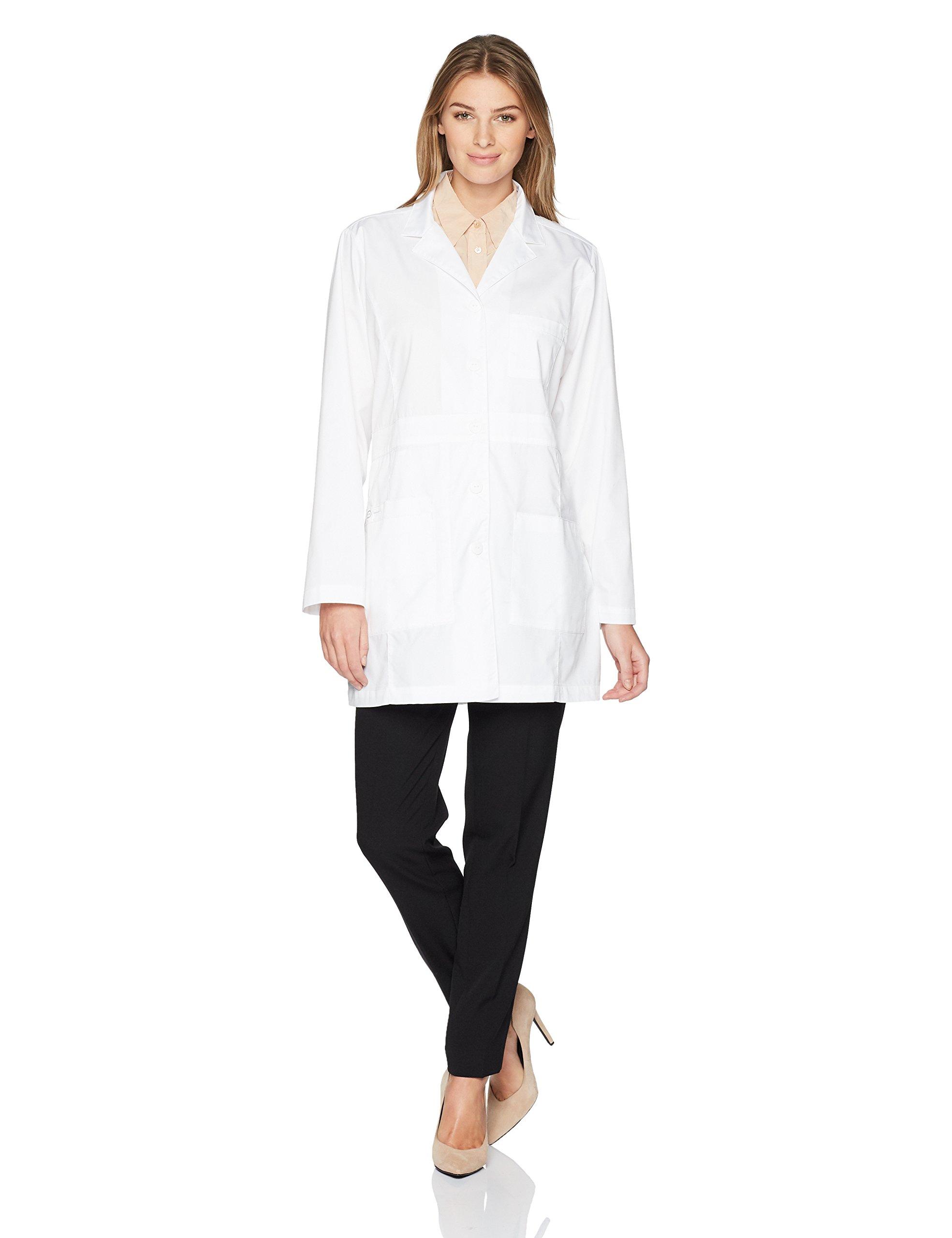 WonderWink Women's Plus Size Basic Lab Coat, White, 3X-Large