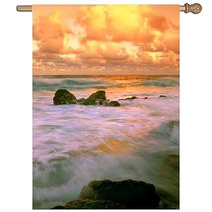 Amazon com : Calibre Life Cloud Earth Hawaii Horizon Ocean Orange