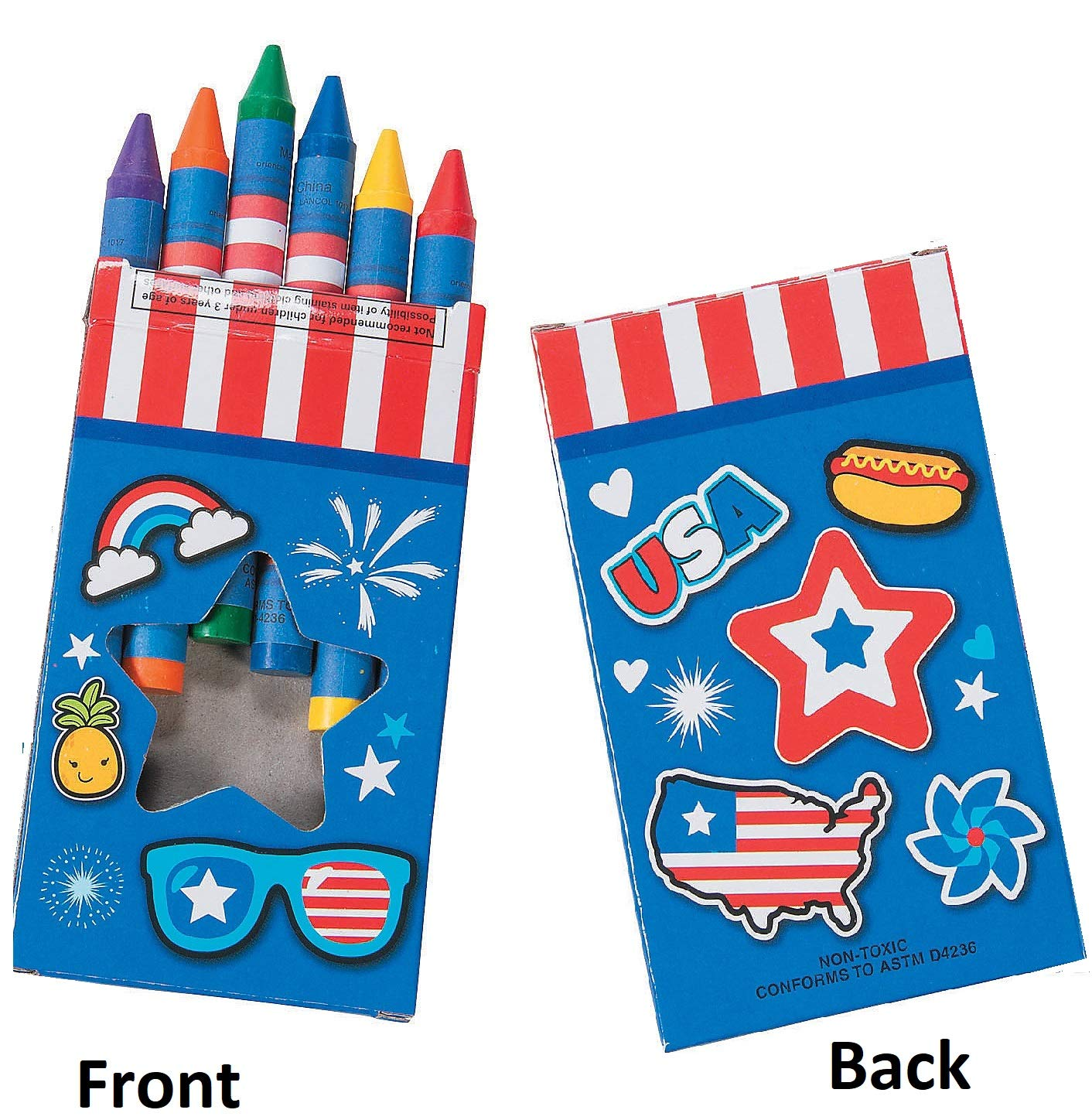 Ten Each 4 16pc Puzzles /& 6-Color 4 x 3//8 Jumbo Crayons 10 Patriotic Color-Your-Own Puzzles /& Crayons Set Memorial Day Veterans Day /& Flag Day Party Favors 4th of July Bundle 20 Independence Day