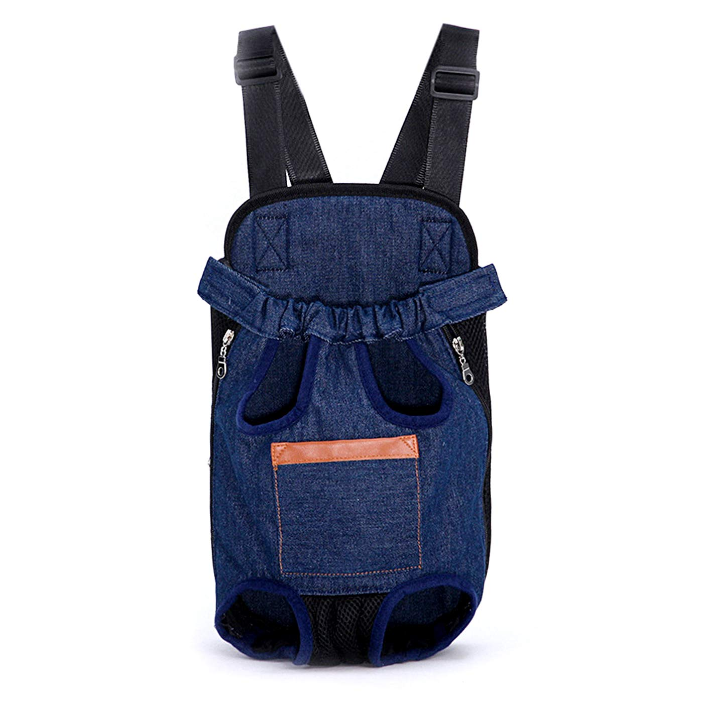 Denim XL Denim XL Alfie Pet Aubrey Pet Backpack or Front Carrier with Adjustable Strap color  Denim, Size  XL