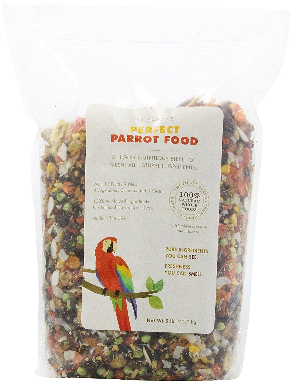 Dr. Harvey's Perfect Blend Natural Food for Large Parrots, 5-Pound Bag