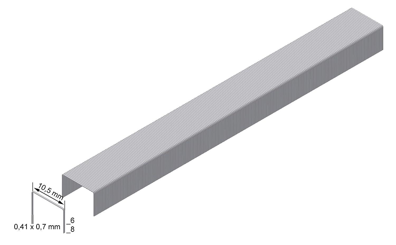 Prebena Heftklammer Type VX mm : 10 Abmessung