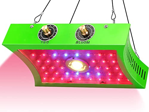LED Grow Light for Indoor Plants, Herb Seeds and Indoor Greenhouse, Plant Light for Indoor Plants Full Spectrum, COB LED 1200W. Adjustable dials for Veggies Bloom, Indoor Grow Lights for Plants