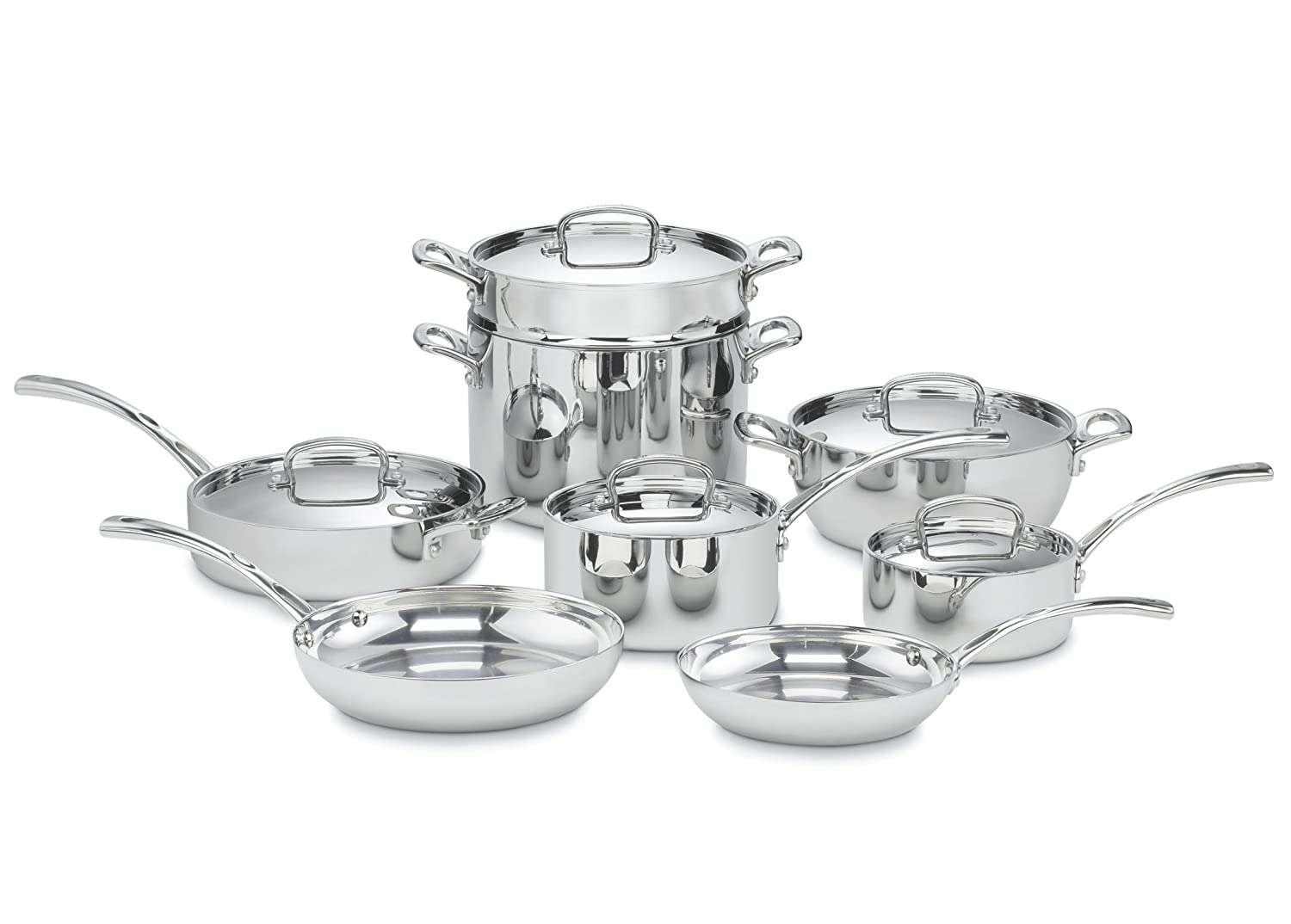 Cuisinart French Classic Tri-Ply Stainless 13-Piece Cookware Set