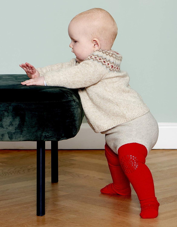   Tango Red 6-12M ABS Non-slip Unterst/ützung F/ür Aktive Kinder Im Krabbelalter 74-80cm Baumwollstretch GoBabyGo Original Rutschfeste Baby Krabbel Strumpfhose