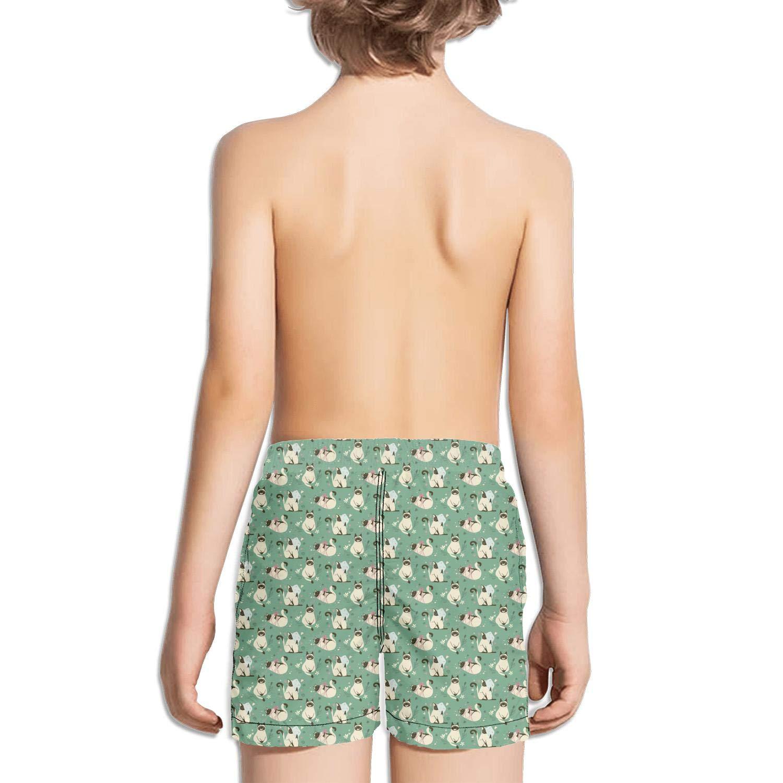 Siamese cat Having Fun Boys Girls Swimming Trunks Beach Board Shorts Ruched Quick Dry Vintage Summer Kids Short Pants