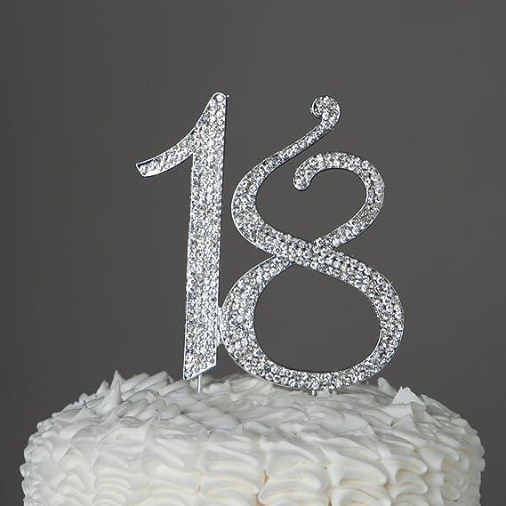 Buy 18th Birthday Caketop Birthday Crystal Cake Toppers Sparkling