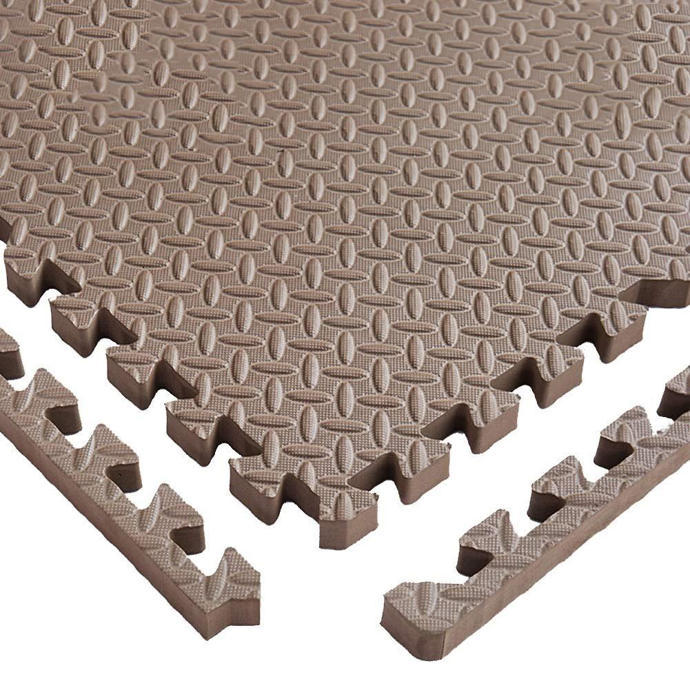 C YAYADU-tapis puzzle en mousse Coupe Libre Couture Créative Prougeection Contre Le Froid Faible Bruit Conception épaissie MultiCouleure Parc D'attractions (Couleur   B, Taille   8PCS) 12PCS