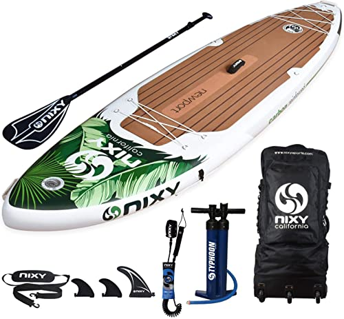 NIXY Newport Paddle Board All Around Inflatable SUP 10 6 x 33 x 6 Ultra-Light Stand Up Paddleboard Built with Dual Layer Dropstitch Includes Paddle, Leash, Pump, Shoulder Strap, and Bag