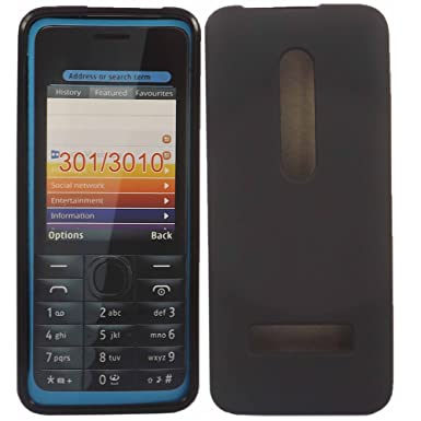 low priced eb82b 8d068 Gel Case Cover Skin For Nokia 301 / Black: Amazon.co.uk: Electronics