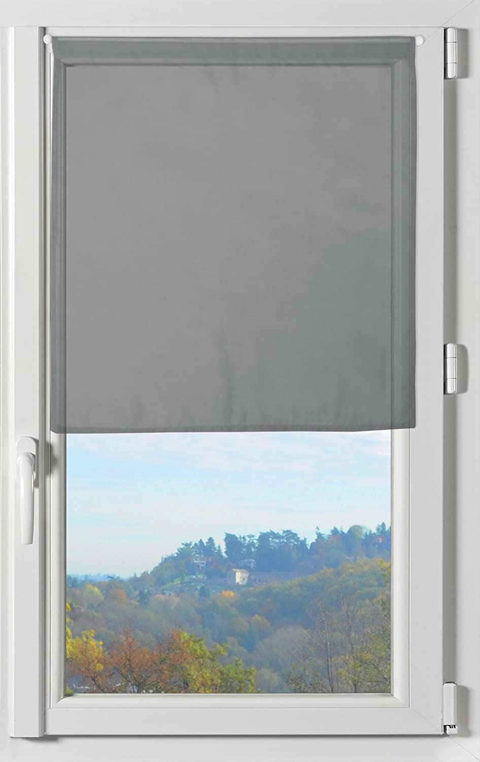 Lovely Casa RA1290007 Lisa Paire Brise Bise Polyester Anthracite 60 x 45 cm