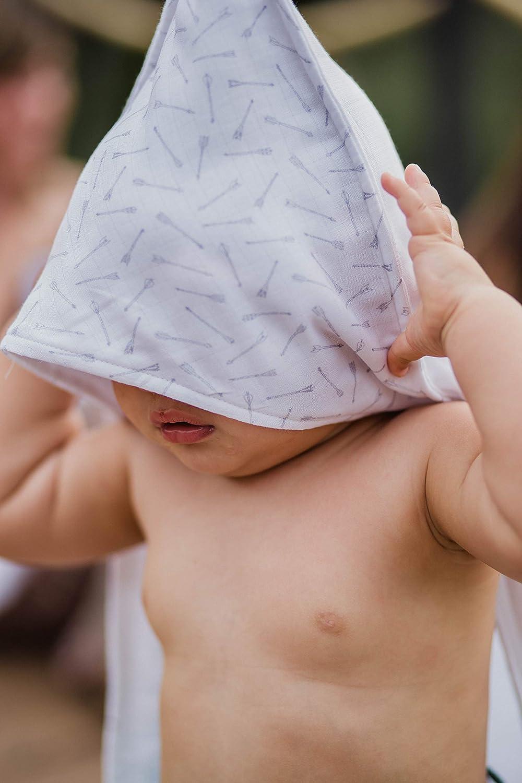 Capa de Baño Bebé de tejido gasa muselina superabsorbente (ESPIGAS GRAPHITE): Amazon.es: Bebé