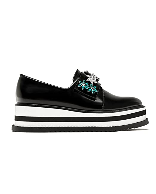 d922a92dee2 Zara Women Platform derby shoes with beading 7301 201 (40 EU