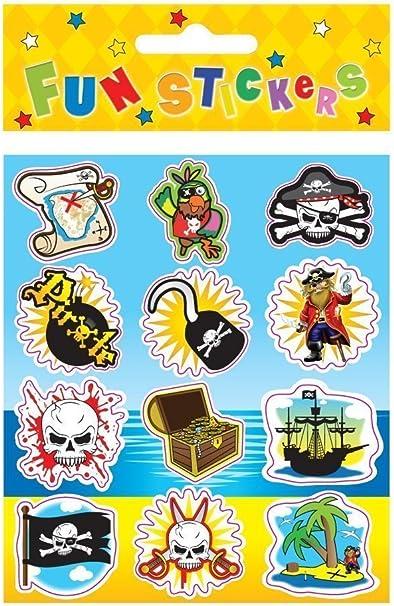 Pack de pegatinas de temática pirata, para rellenar bolsas de ...