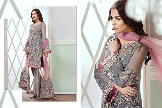 3ba33b0758 Image Unavailable. Image not available for. Color: Indian Designer Gorgeous Pakistani  Salwar Kameez suit With Dupatta Ethnic Muslim Party Wedding Wear 7288