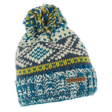 Weird Fish Columbus Fair Isle Knit Bobble Hat Ensign Blue Size One ...