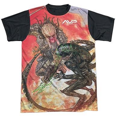 27a75a50 Amazon.com: Alien Vs Predator - Mens Brutal Battle T-Shirt, Size:  XXX-Large, Color: White: Clothing
