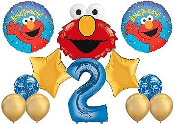 Elmo Happy 2nd Birthday Balloon Bouquet