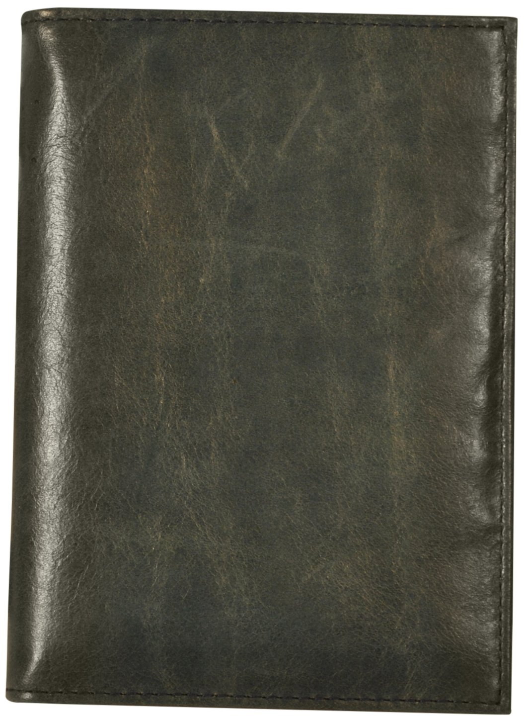 Budd Leather Distressed Leather Passport Case, Blue
