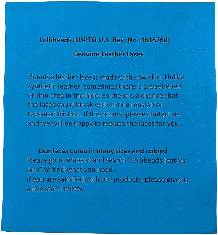 LolliBeads 3mm Flat Genuine Leather Cord Braiding String Black TM 5 Yards