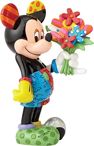 Disney by Britto Mickey with Flowers Stone Resin Figurine