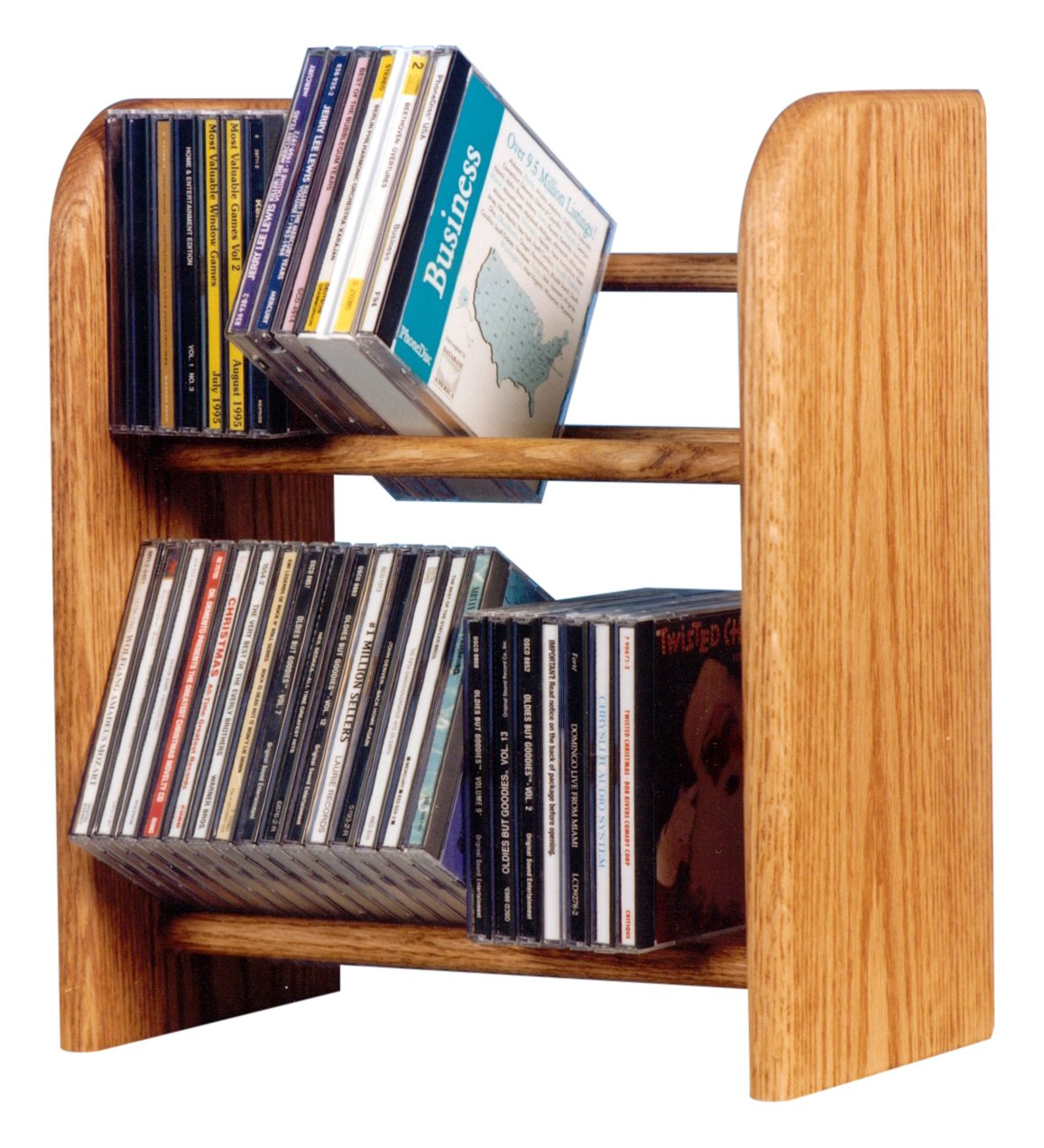 Wood Shed The 204 U Solid Oak CD Rack, Unfinished by Wood Shed